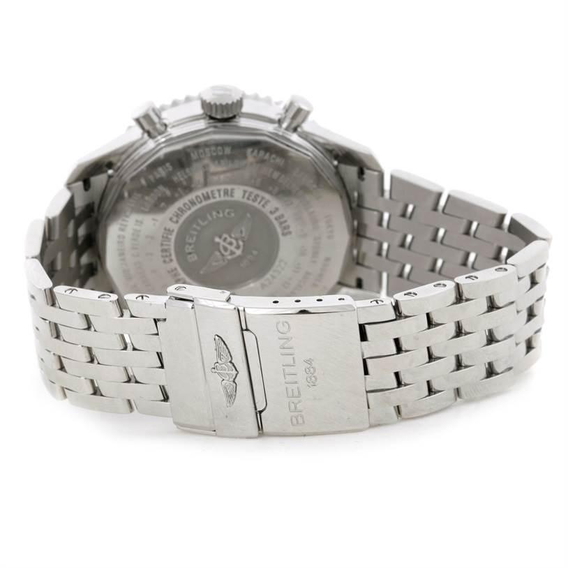 Breitling Navitimer World Chronograph Blue Dial Steel Watch A24322 SwissWatchExpo