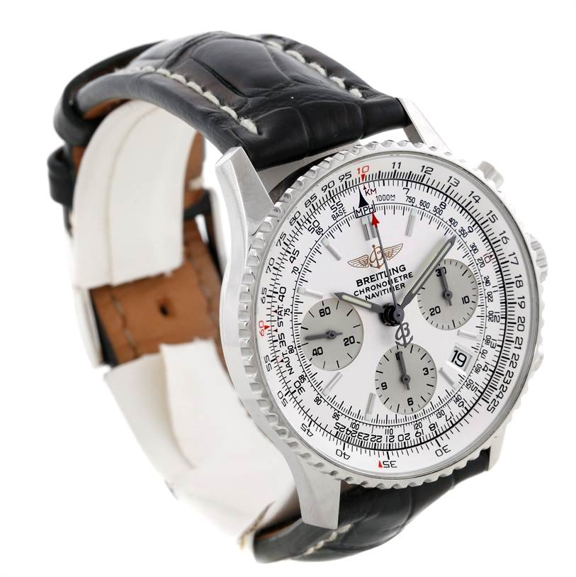 9432 Breitling Navitimer Automatic Chronograph Steel Watch A23322 SwissWatchExpo