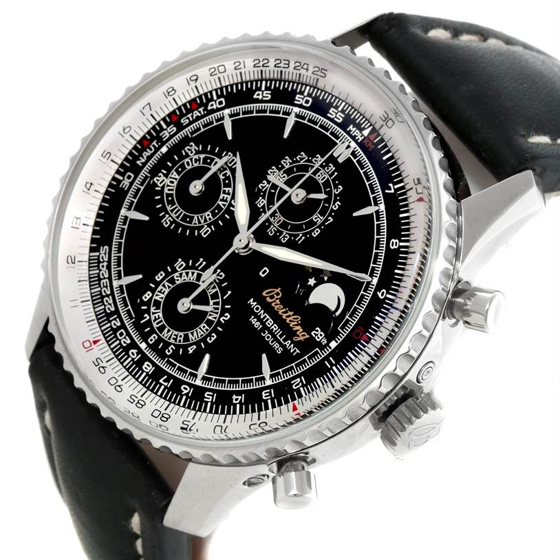 9469 Breitling Navitimer Monbrillant 1461 Jours Mens Moonphase Watch A19030 SwissWatchExpo