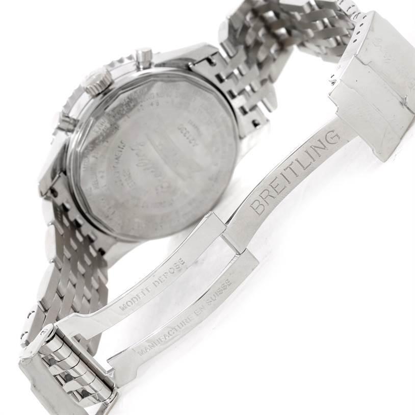 9462 Breitling Navitimer Montbrillant Datora Steel Mens Watch A21330 SwissWatchExpo