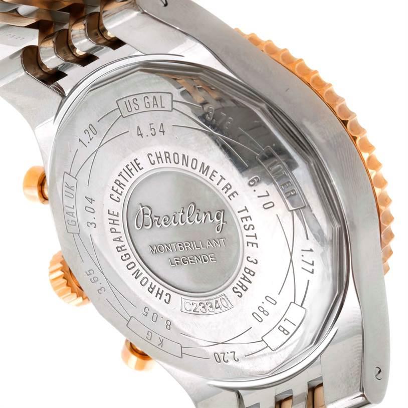 9575 Breitling Montbrillant Legende Stainless Steel Rose Gold Watch C23340 SwissWatchExpo