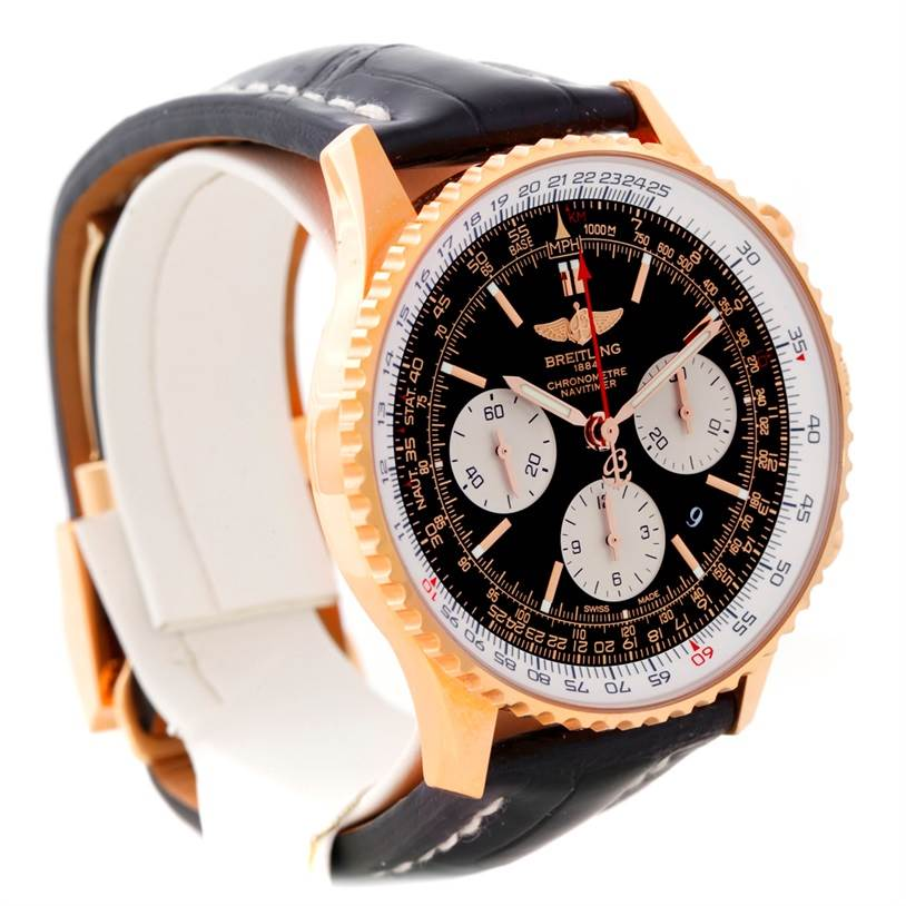 Breitling Navitimer 01 18K Rose Gold Watch RB0120 SwissWatchExpo