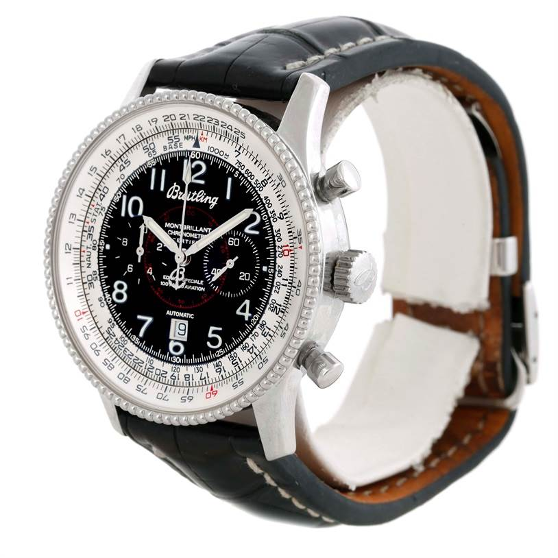 Breitling Navitimer Montbrillant Steel Limited Edition Watch A35330 SwissWatchExpo