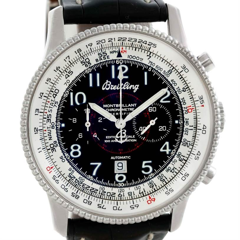 9744 Breitling Navitimer Montbrillant Steel Limited Edition Watch A35330 SwissWatchExpo
