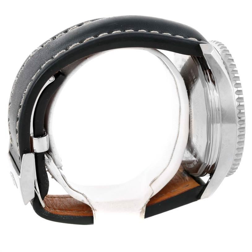 Breitling Navitimer World Chronograph Black Strap Steel Watch A24322 SwissWatchExpo