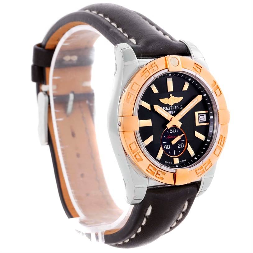 10426 Breitling Galactic 36 Stainless Steel Rose Gold Watch C37330 Unworn SwissWatchExpo