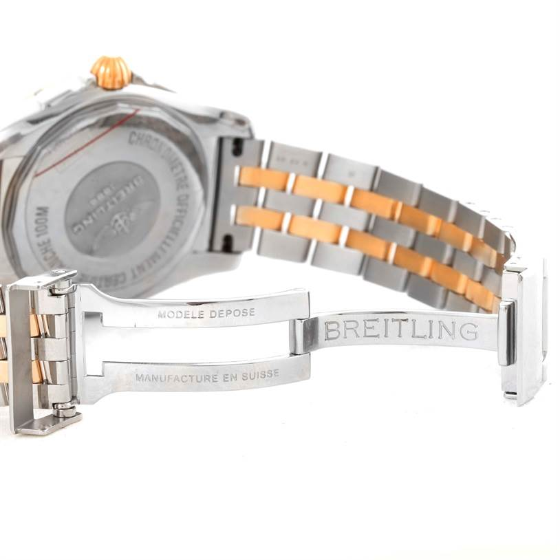 10588 Breitling Galactic 36 Stainless Steel Rose Gold Watch C37330 SwissWatchExpo