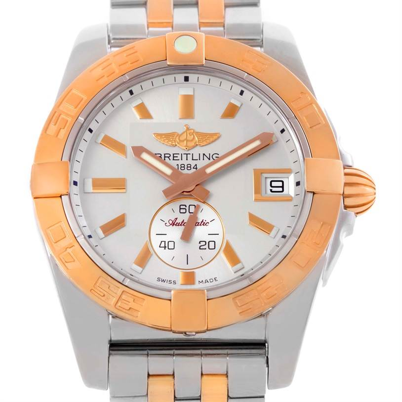 Breitling Galactic 36 Stainless Steel Rose Gold Watch C37330 SwissWatchExpo