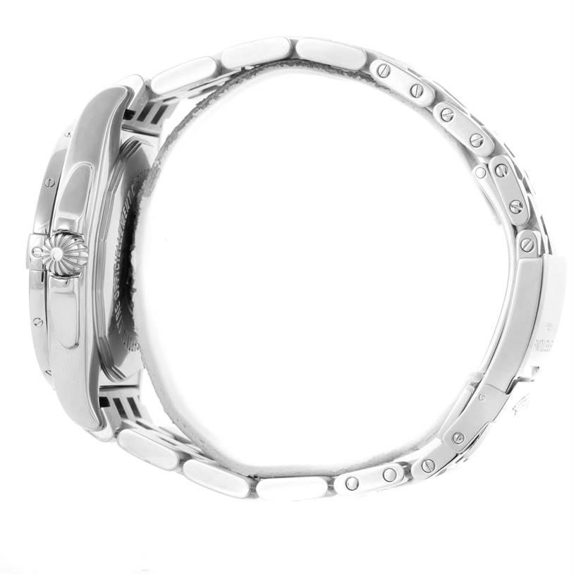 Breitling Galactic 44 Day-Date Steel Blue Dial Watch A45320 Unworn SwissWatchExpo
