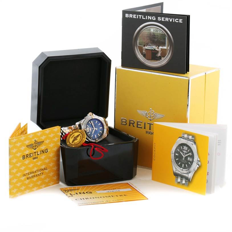 11232 Breitling Windrider Cockpit Steel 18K Yellow Gold Mens Watch B49350 SwissWatchExpo