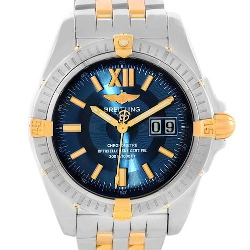 Photo of Breitling Windrider Cockpit Steel 18K Yellow Gold Mens Watch B49350