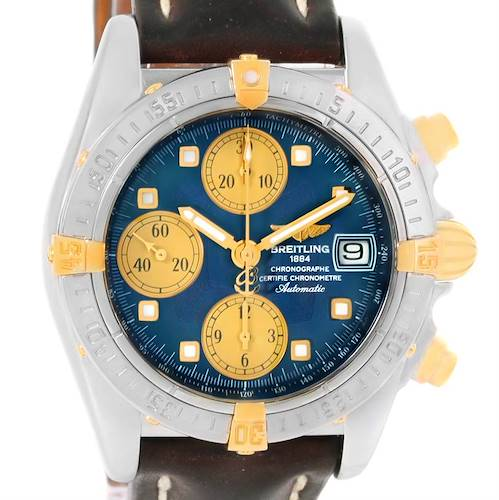 Photo of Breitling Windrider Cockpit Steel Yellow Gold Blue Dial Watch B13357