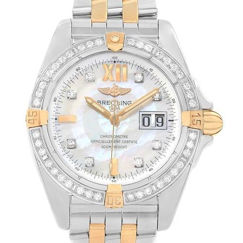 Photo of Breitling Cockpit Mother of Pearl Dial Diamond Mens Watch B49350