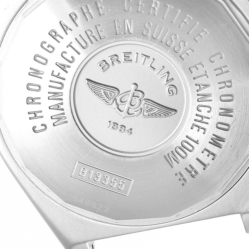 4489X Breitling Windrider Cockpit Steel Yellow Gold Mens Watch B13355 SwissWatchExpo