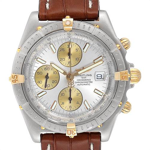 Photo of Breitling Windrider Cockpit Steel Yellow Gold Mens Watch B13355