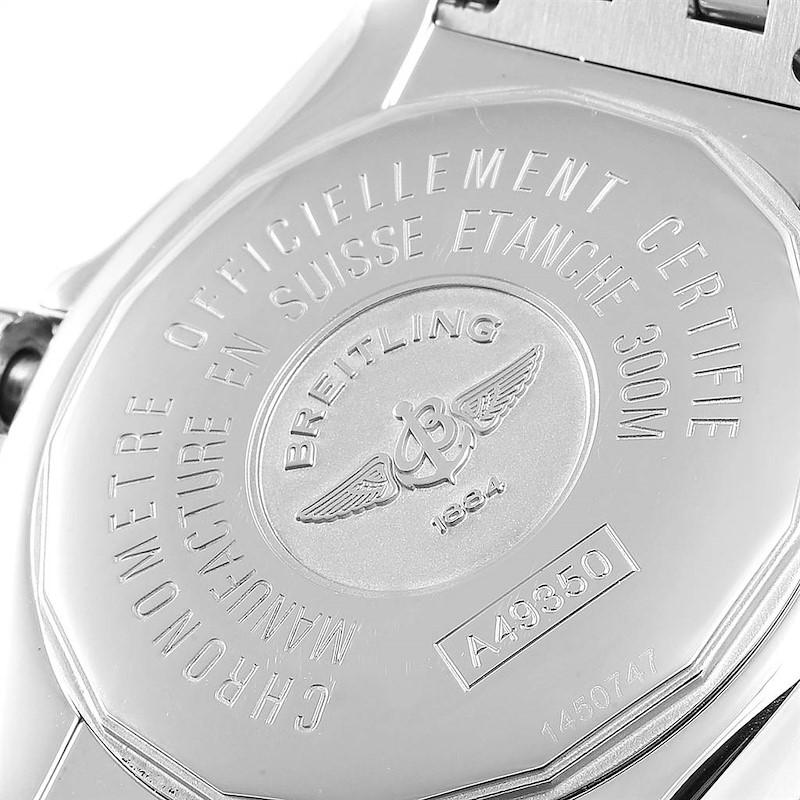 Breitling Windrider Cockpit Grey Dial Steel Mens Watch A49350 SwissWatchExpo