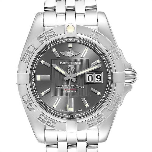 Photo of Breitling Windrider Cockpit Grey Dial Steel Mens Watch A49350