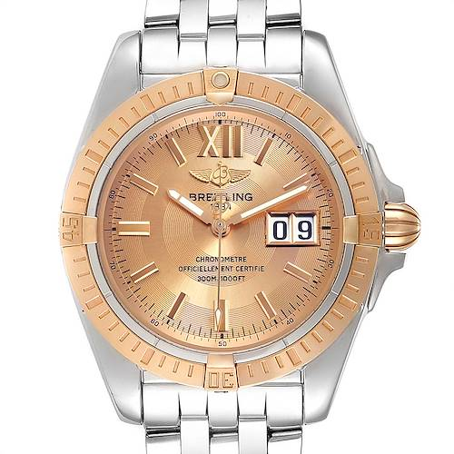 Photo of Breitling Windrider Cockpit Rose Gold Steel Mens Watch A49350 Box Papers