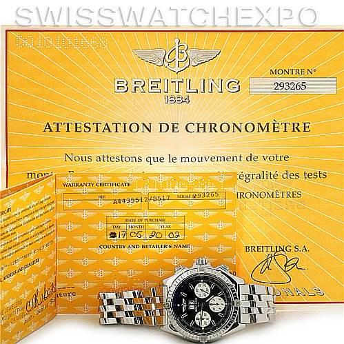 Breitling Windrider Crosswind Steel Mens Watch A4435512 SwissWatchExpo