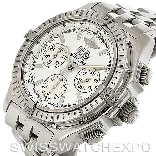 Breitling Windrider Crosswind Special Steel Mens A44355 Watch SwissWatchExpo