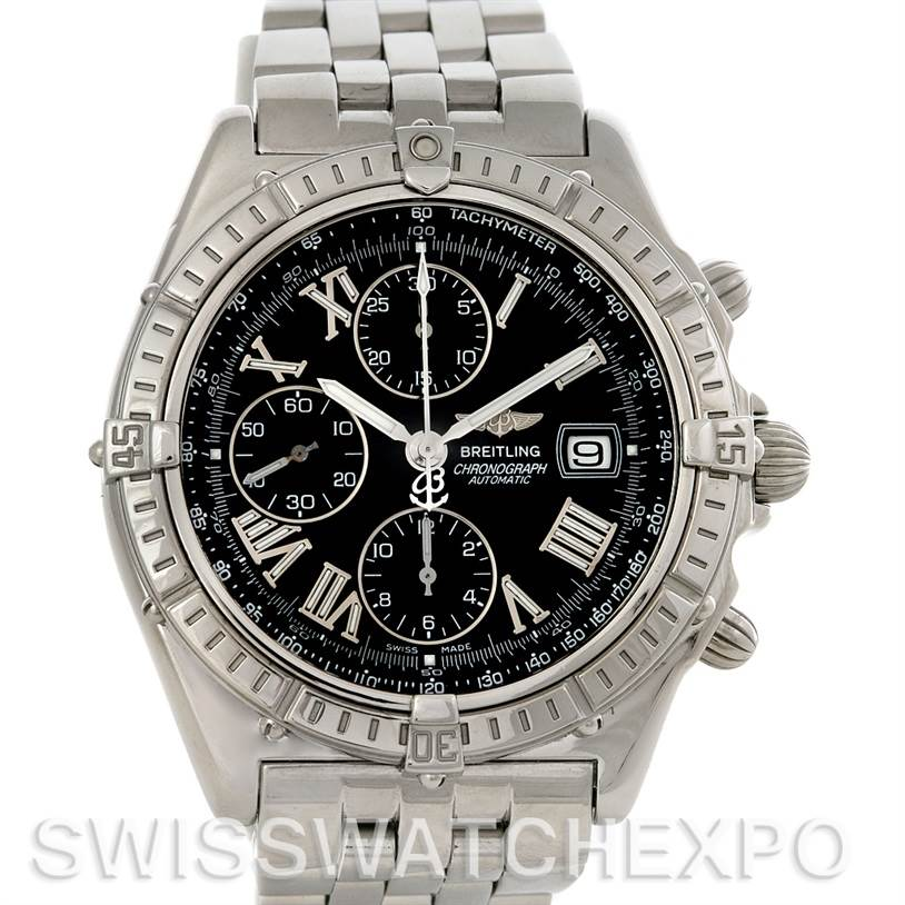 3074 Breitling Windrider Crosswind Steel Mens Watch A13055 SwissWatchExpo