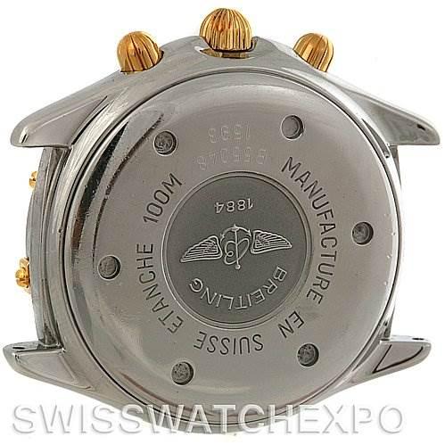 4075 Breitling Windrider Jetstream Chrono Watch Steel and 18K Yellow Gold B55048 SwissWatchExpo