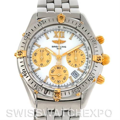 Photo of Breitling Windrider Jetstream Chrono Watch Steel and 18K Yellow Gold B55048