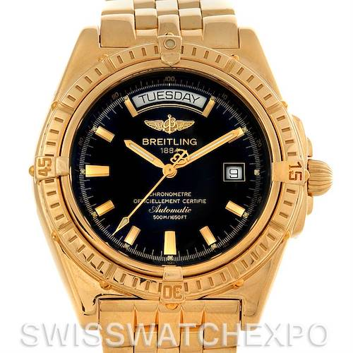 Photo of Breitling Headwind 18K Yellow Gold Black Dial Men's Watch Limited Edition