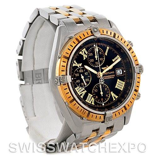 4313 Breitling Windrider Crosswind Steel and Gold Watch D1335512 SwissWatchExpo