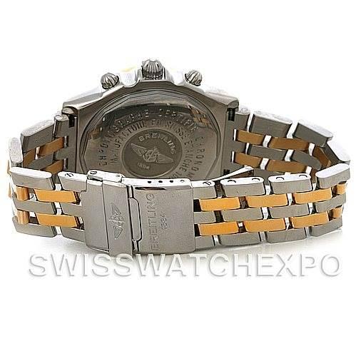 4313 Breitling Windrider Crosswind Steel and Gold Watch D1335512 SwissWatchExpo