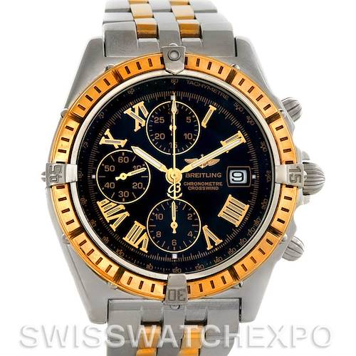 Photo of Breitling Windrider Crosswind Steel and Gold Watch D1335512