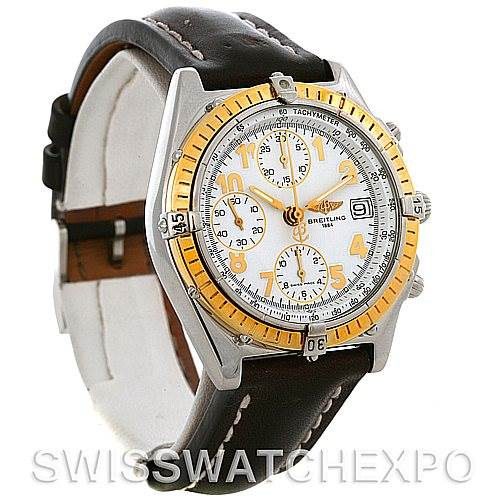 4311 Breitling Windrider Chronomat Steel and 18K Yellow Gold Watch D13050 SwissWatchExpo
