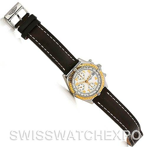 Breitling Windrider Chronomat Steel and 18K Yellow Gold Watch D13050 SwissWatchExpo