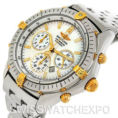4301 Breitling Windrider Shadow Flyback Steel 18K Yellow Gold B35312 Watch SwissWatchExpo