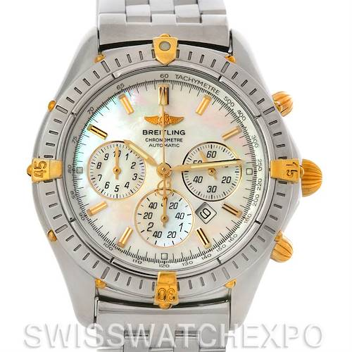 Photo of Breitling Windrider Shadow Flyback Steel 18K Yellow Gold B35312 Watch