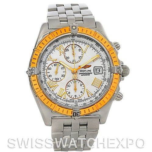 Breitling Windrider Chronomat Steel and 18K Yellow Gold Watch D13055 SwissWatchExpo