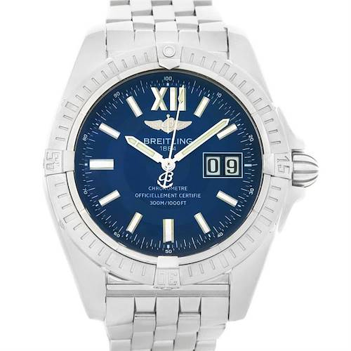 Photo of Breitling Windrider Cockpit 41 Blue Dial Mens Steel Watch A49350