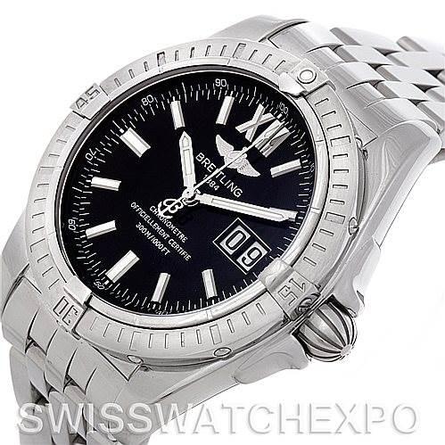 Breitling Windrider Cockpit Men's Steel Watch A49350 SwissWatchExpo