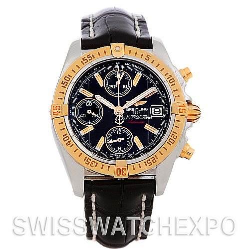 Breitling Cockpit Steel 18K Rose Gold Watch C13358 SwissWatchExpo