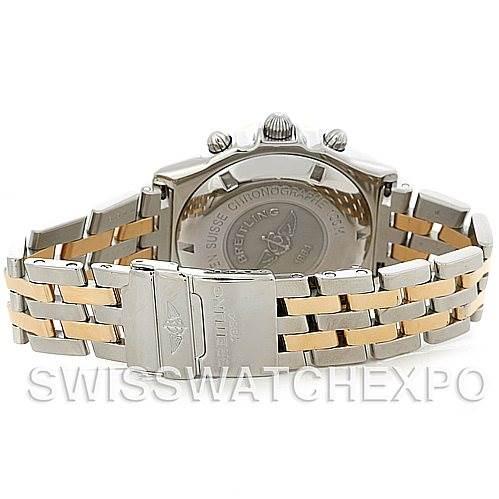 5213 Breitling Windrider Chronomat Steel and 18K Yellow Gold Watch D13055 SwissWatchExpo