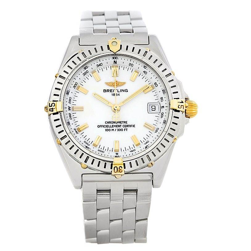 Breitling Windrider Wings Steel and 18K Yellow Gold Watch B10350 SwissWatchExpo