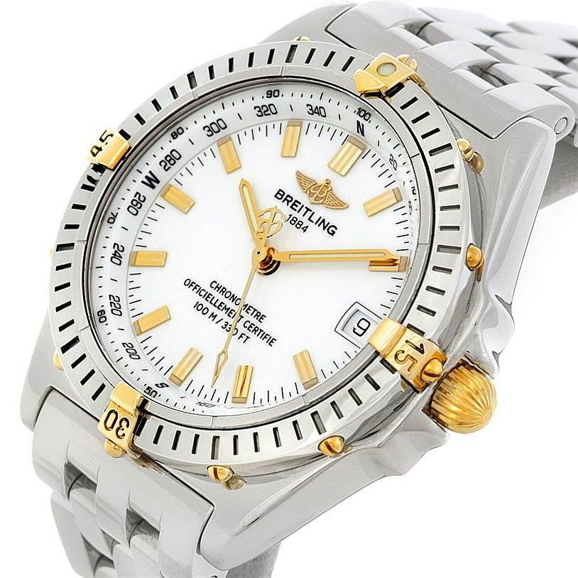 5135 Breitling Windrider Wings Steel and 18K Yellow Gold Watch B10350 SwissWatchExpo