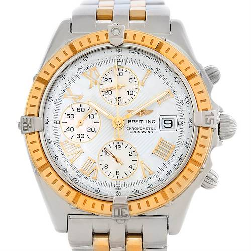 Photo of Breitling Windrider Crosswind Steel and Gold Watch D13355