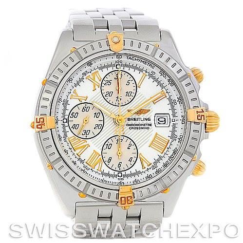 5269 Breitling Windrider Crosswind Steel and Gold Watch B13355 SwissWatchExpo