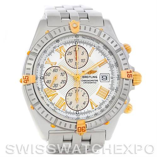 Photo of Breitling Windrider Crosswind Steel and Gold Watch B13355