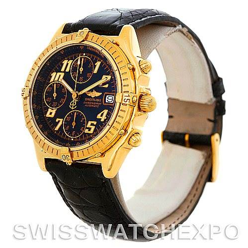 5300 Breitling Windrider Chronomat Vitesse 18K Yellow Gold Watch K13350 SwissWatchExpo