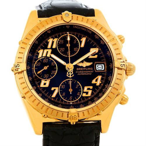 Photo of Breitling Windrider Chronomat Vitesse 18K Yellow Gold Watch K13350