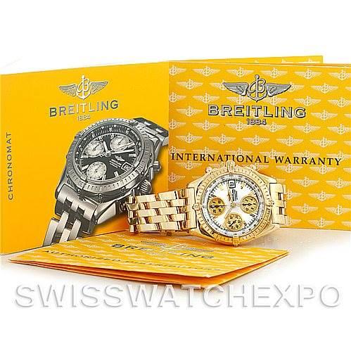 5594p Breitling Windrider Chronomat Vitesse 18K Yellow Gold Watch K13050 NBA LE SwissWatchExpo