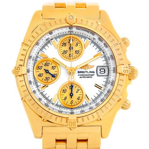 Photo of Breitling Windrider Chronomat Vitesse 18K Yellow Gold Watch K13050 NBA LE