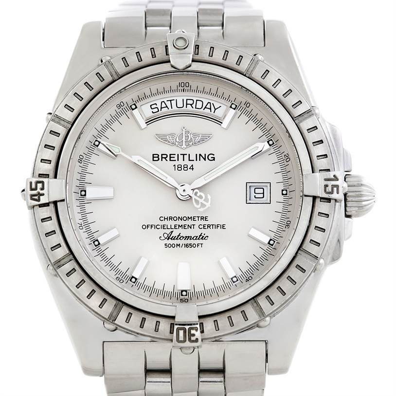 5812 Breitling Headwind Steel Men's Watch A45355 SwissWatchExpo